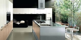 plan cuisine avec ilot central ilot central avec evier et plaque de cuisson maison design ilot de
