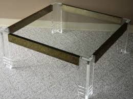 square lucite brass u0026 glass coffee table julesmoderne com