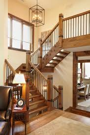 Wood Banister Metal Balusters Staircase Rustic With Balcony Metal And Wood