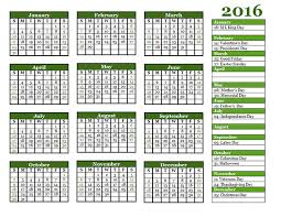 2016 yearly calendar template 06 free printable templates