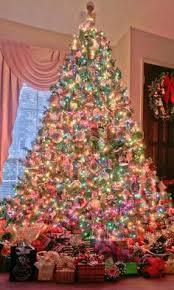 christmas trees with colored lights decorating ideas fun idea for a colorful christmas tree christmas cheer