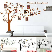 wall arts birch trees decals deer wall decals nature wall by wall arts stick on tree wall art big size brownblack photo frame tree wall stickers