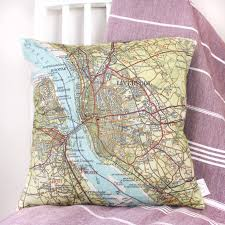 World Map Bedding Personalised Favourite Place In The Uk Map Cushion