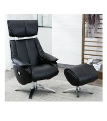 real leather swivel recliner chairs gfa alpha black leather swivel recliner