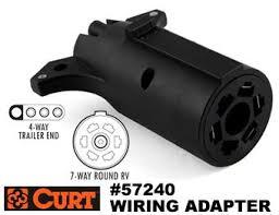 curt 57240 trailer plug wiring adapter flat 4 to round 7 rv connector