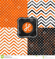 orange and white wallpapers polka dots and chevron black white orange paper se royalty free