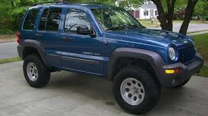 2003 blue jeep liberty bert 2003 sport 4x4 atlantic blue pearl lifted 32s 2003 jeep