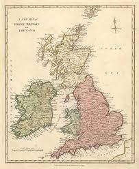 map uk and irelandmap uk counties antique print club uk ireland counties roads