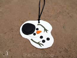 tutorial clay snowman ornament the chilly