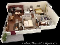 modern 2 bedroom 1000 ft home design plans 3d 2017 also