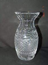 Vintage Waterford Cut Glass Crystal Vase Starburst Pattern Waterford Pineapple Ebay