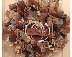 Thanksgiving Deco Mesh Wreaths Fall Give Thanks Deco Mesh Wreath Thanksgiving Wreath Autumn