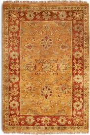 Terracotta Rugs Plantation Taj Agra Red Rug Traditional Hand Knotted