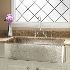 copper backsplash tiles kitchen surfaces pinterest 35 reena nickel plated copper farmhouse sink with hammered