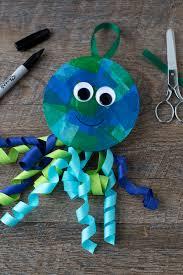 craft ribbon upcycled cd and ribbon jellyfish craft