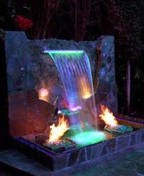 Backyard Water Fountain by Best 25 Fountain Lights Ideas On Pinterest Lighting For Gardens