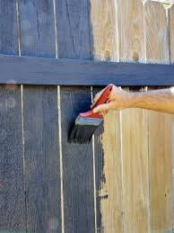 Painting Vs Staining Kitchen Cabinets How To Paint A Fence Hgtv