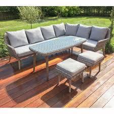 rattan garden corner sofa dining set okaycreations net