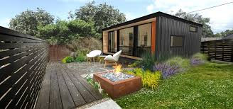 get attractive design of small prefab homes with affordable prices combine small prefab homes from used container with minimalist patio using white chairs and side table