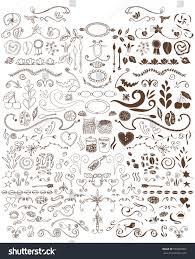 vector set coffee ornaments stock vector 590362802