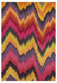 Modern Rugs Affordable by Banha Egyptian Pink U0026 Orange Ikat Rug Ikat Pattern Rug Features