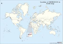 Show World Map by Map Morocco On A World Map