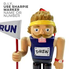 runner nutcracker resin ornament for a run