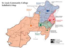 meramec community map stlcc district map st louis community