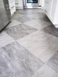 calm bright artistic kitchen flooring design with splendid white