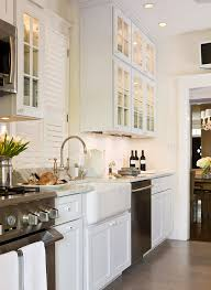 White Small Kitchen Designs Beautiful Efficient Small Kitchens Traditional Home