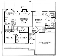 plan42 ranch style house plan 3 beds 2 00 baths 1296 sq ft plan 42 223