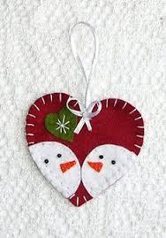 felt ornament scandinavian by puffinpatchwork