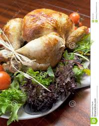 thanksgiving dinner salad christmas or thanksgiving roast chicken turkey dinner vertical