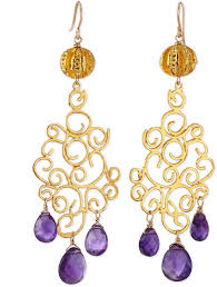 amethyst drop earrings leigh 18k gold plate amethyst drop earrings where to buy