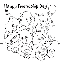 friendship u0027s day coloring pages