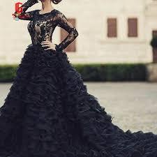 black wedding dresses 2017 sleeves black lace wedding dresses sleeves