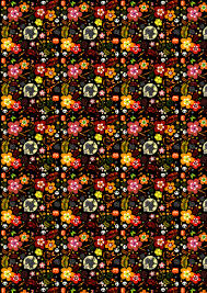 Halloween Printable Paper by Free Scrapbook Paper Witches And Flowers Rooftop Post Printables