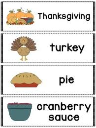 thanksgiving words great for a pocket chart word wall or flash