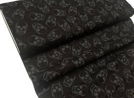 skulls 100 cotton fabric material halloween skull 112cm 44