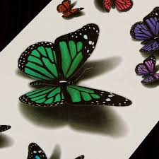 3d butterfly flying design temporary sticker decal at