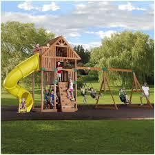 backyards ergonomic fenced backyard with wooden playground for