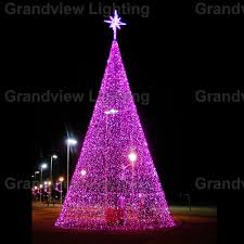 outdoor colorful large led decoration tree
