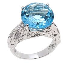 rings blue topaz images Colleen lopez 8ctw round blue topaz sterling silver ring 8451539 jpg