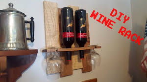 making a rustic wine rack from recycled pallet wood youtube