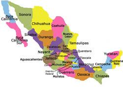 regions of mexico map regions of mexico map major tourist attractions maps