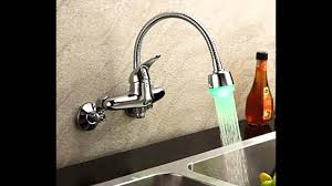 kitchen faucets wall mount youtube