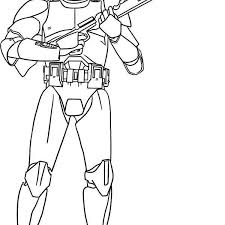 Clone Coloring Pages The Clone Trooper Hold A Gun In Star Wars Wars Clone Coloring Pages