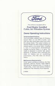 Interior Air Interior Cabin Air Filter Install Pics F150online Forums