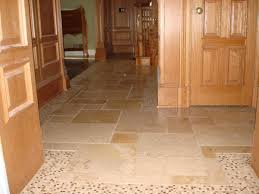Glass Mosaic Border Tiles Tumbled Marble With Marble Mosaic Border Foyer Floor New Jersey