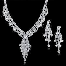 crystal diamond necklace images Fancy tassel diamond crystal necklace set buy big diamonds jpg